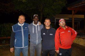 Daniel Härter, Dill Abdoulaye, Olivier Wellmann und Christian Royer
